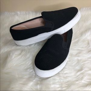 Topshop Tempo Black Slip On Loafers